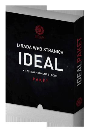 Izrada web stranice - Web dizajn - idealan paket - ideal paket - izrada web stranica - red sun zagreb hrvatska